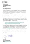 Danksagung der Fachzeitschrift PLOS ONE an Prof. Dr. B.L. Herrmann