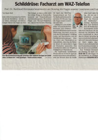 Schilddrüsenwoche WAZ-Telefon
